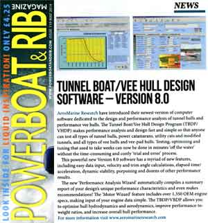 Tunnel Boat Design Program Version 8.0